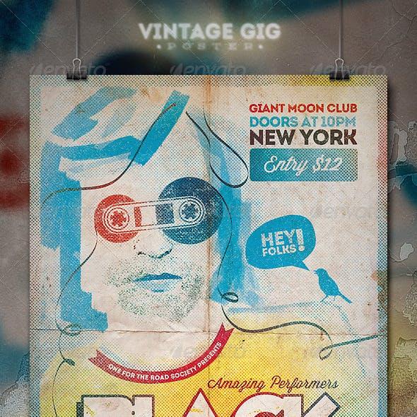 Vintage GIG Poster - III