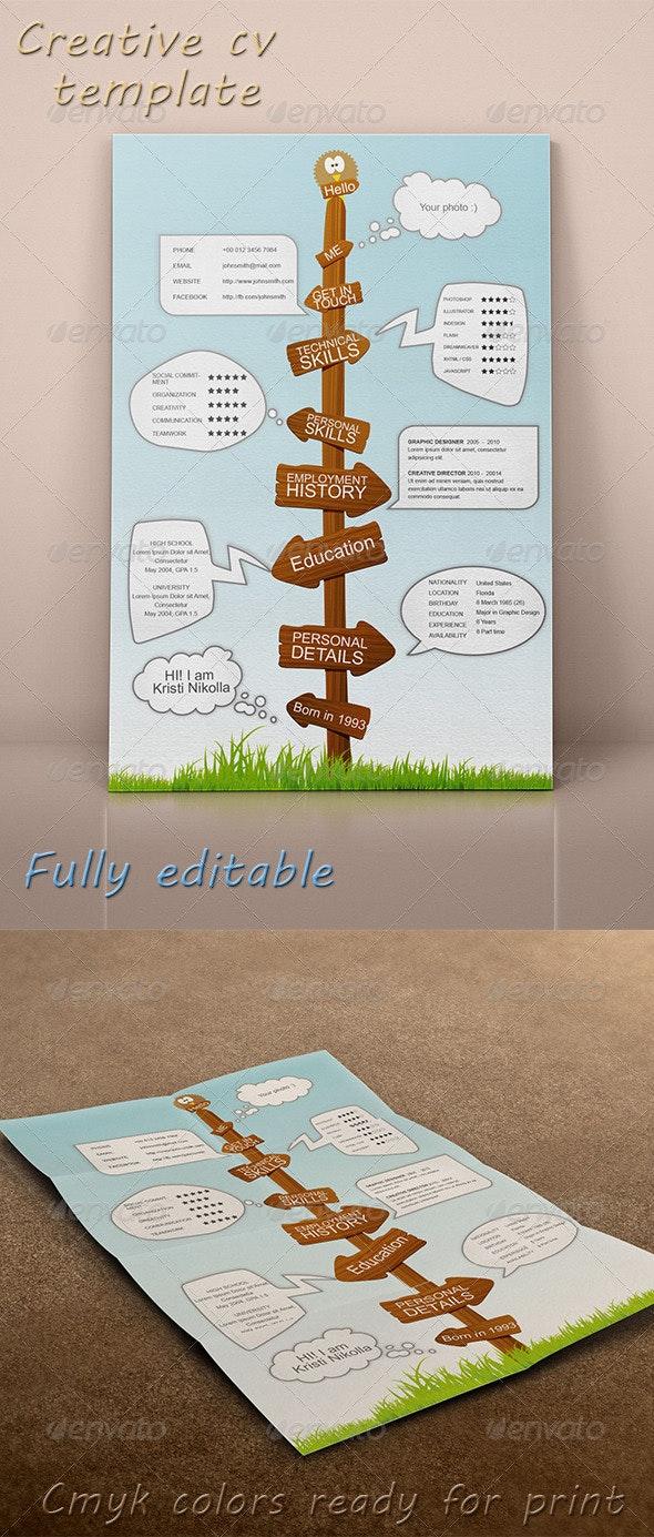 Creative CV Template - Stationery Print Templates