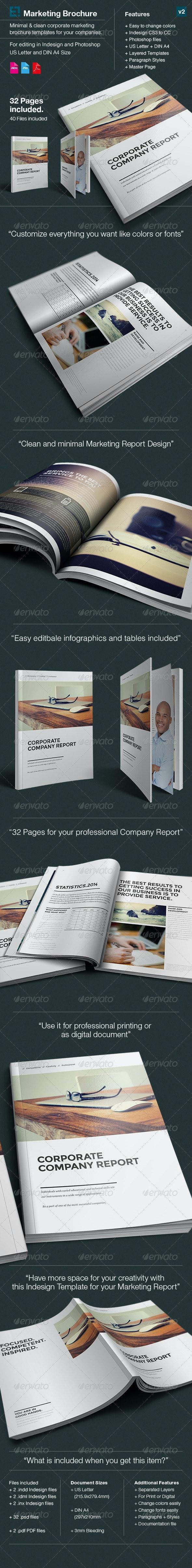 Design Marketing Brochure / A4 and US Letter v1  - Corporate Brochures
