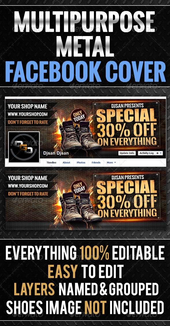 Multipurpose Metal Timeline Cover - Facebook Timeline Covers Social Media