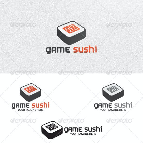 Game Sushi - Logo Template