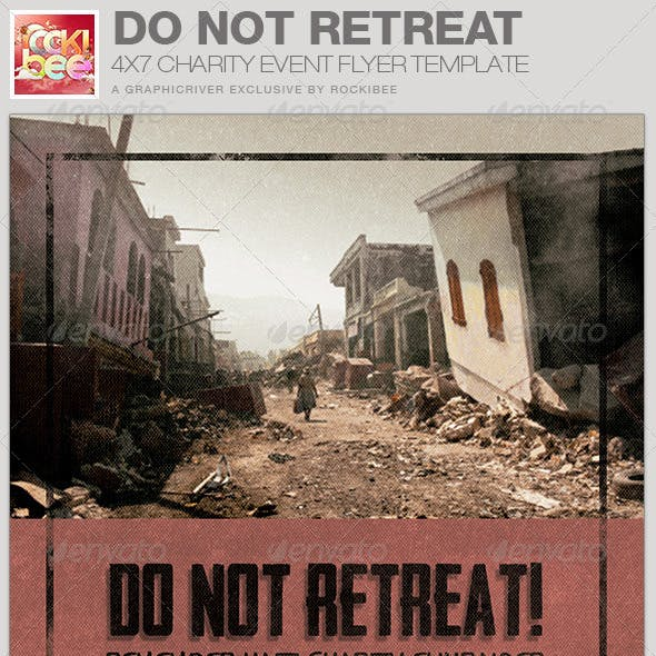 Do Not Retreat Charity Event Flyer Template