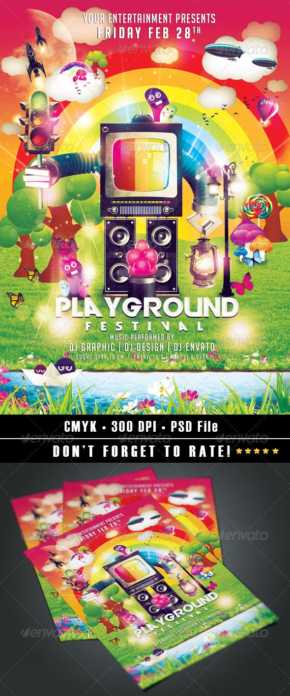 Playground Festival - Events Flyers