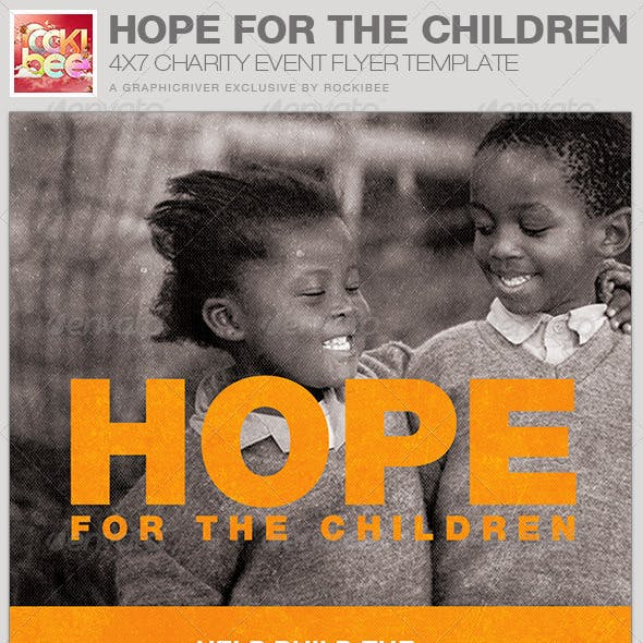 Hope for the Children Charity Event Flyer Template