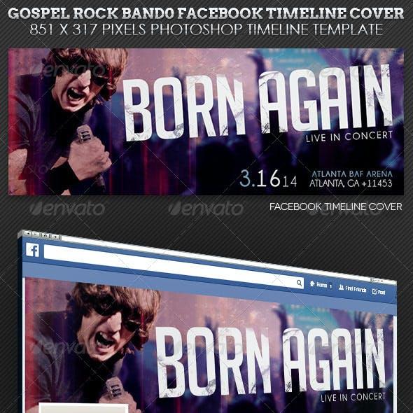 Gospel Rock Band Facebook Cover Template