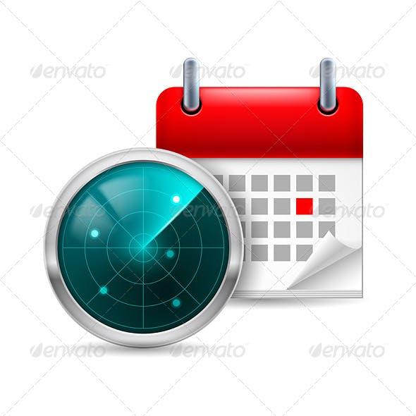 Radar Screen and Calendar