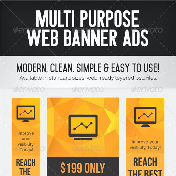 Multi Purpose Web Banner Ads