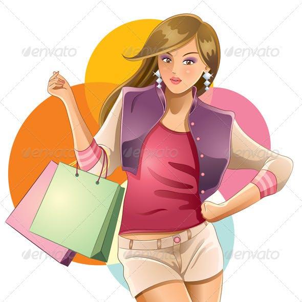 Sexy Girl Love Shopping
