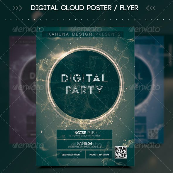Digital Cloud Poster / Flyer