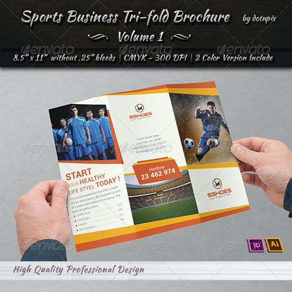 Sports Business TriFold Brochure | Volume 1