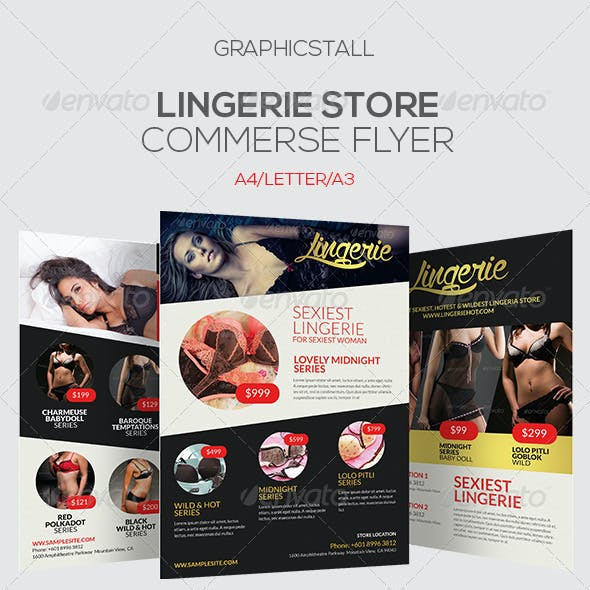 Lingerie Store Promotion  Flyer