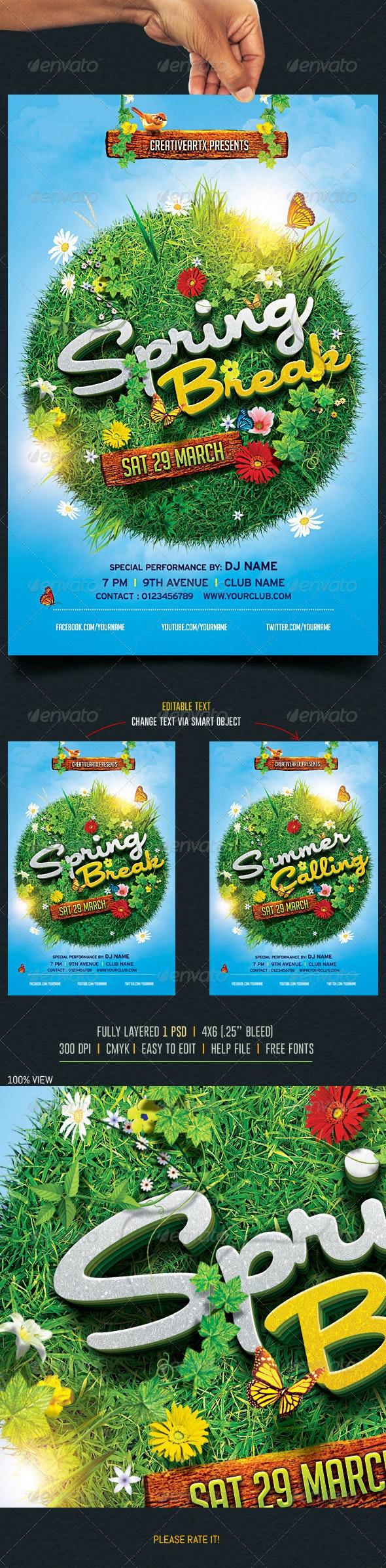 Spring Break / Summer Party Flyer 2 - Events Flyers