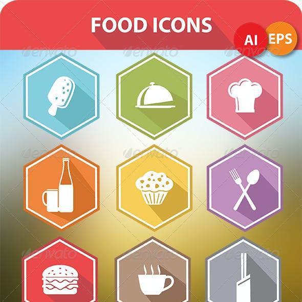 9 Food Icons & Menu Elements