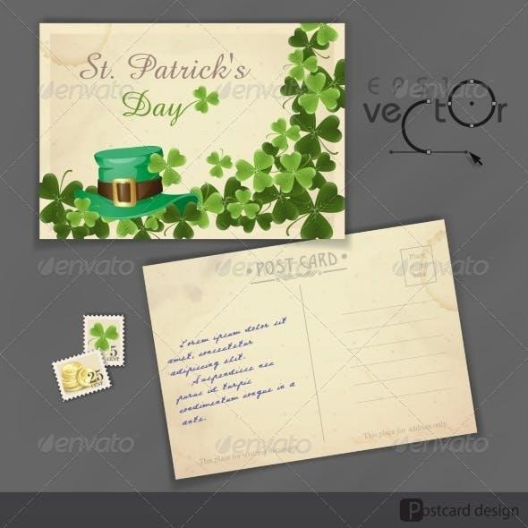 St. Patrick's Day Background With Leprechaun Hat