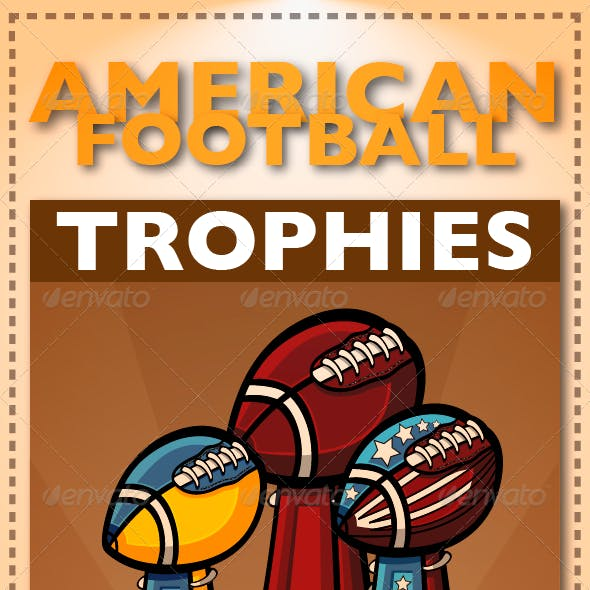 American Football and Trophies