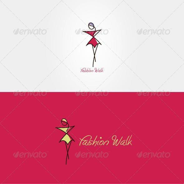 Fashion Walk Stock Logo Template