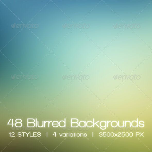 Blur - 48 Blurred HD Backgrounds