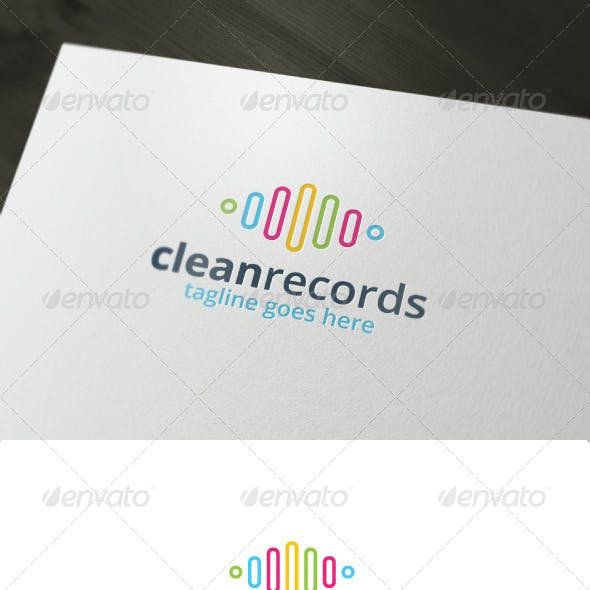 Clean Records Logo