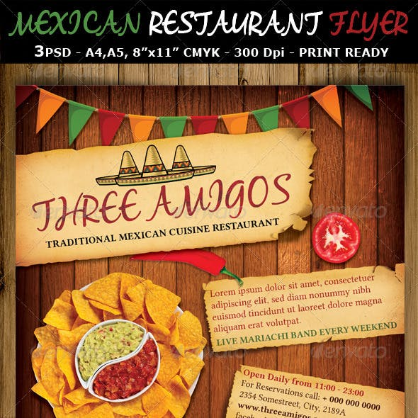 Mexican Restaurant Ad Flyer Template