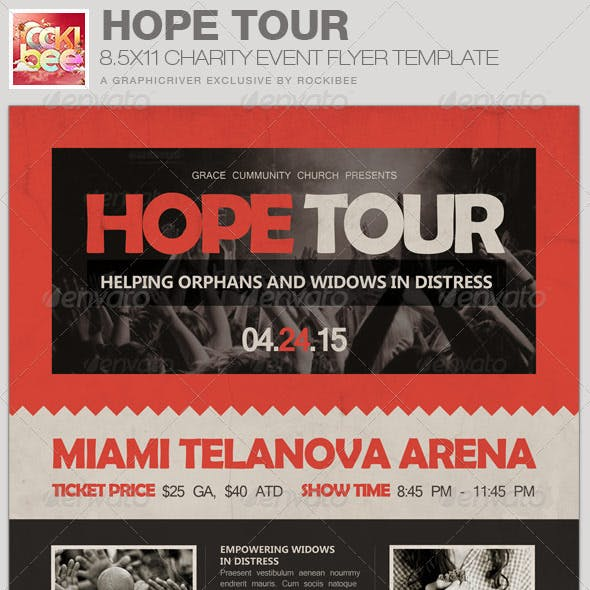Hope Tour Charity Event Flyer Template