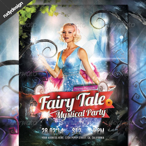 Fairy Tale Fantasy Mystical Party Flyer Design