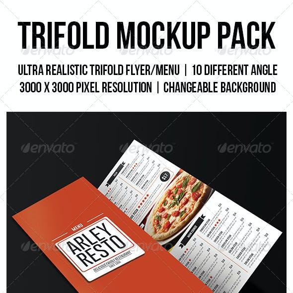 Trifold Mockup Pack