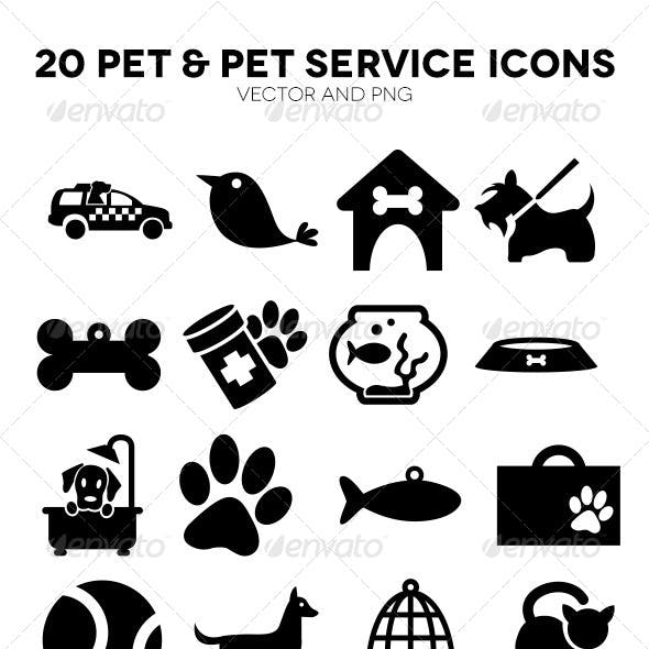 20 Pet and Pet Service Icons