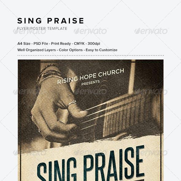 Sing Praise Flyer/Poster Template