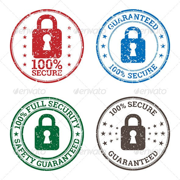 Security Guarantee Stamp Icons