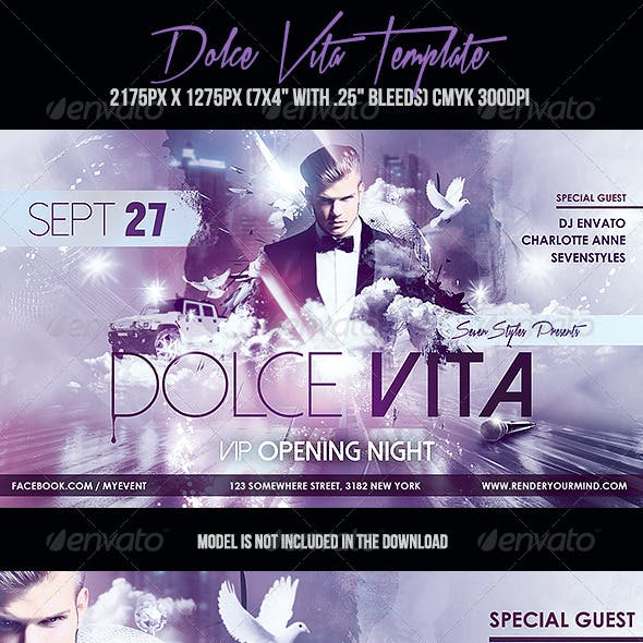 Dolce Vita Flyer Template