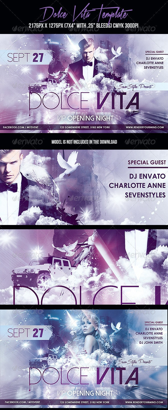 Dolce Vita Flyer Template - Clubs & Parties Events
