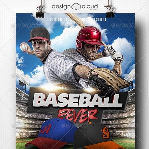 Baseball Fever Flyer Template