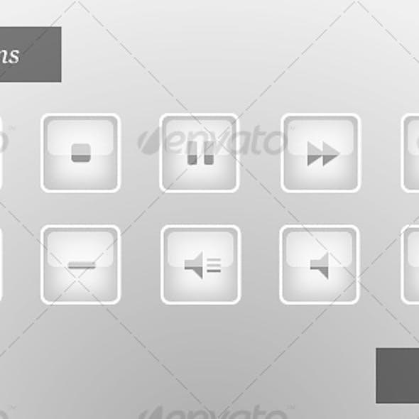Media Player Icons | Polar Edition