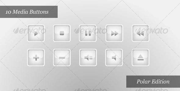 Media Player Icons | Polar Edition - Web Icons