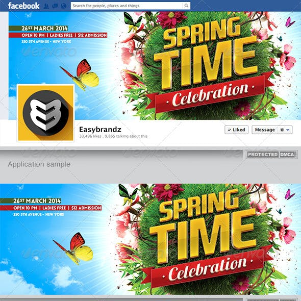Spring Celebration Facebook Timeline