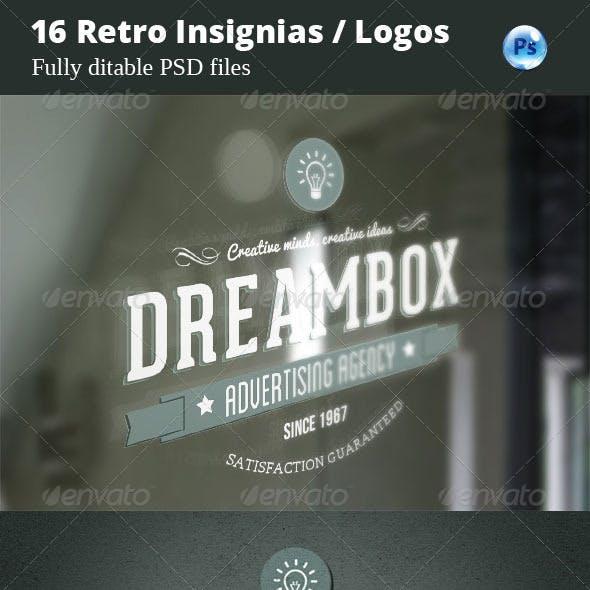 16 Retro Insignias / Logos