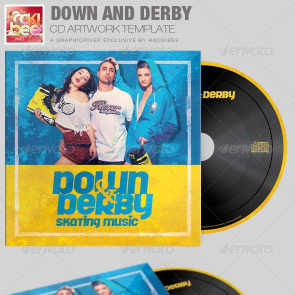 Down and Derby Skating CD Artwork Template
