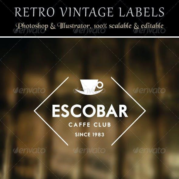 Retro Vintage Labels