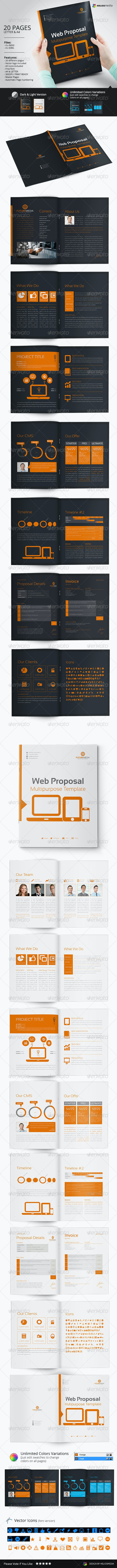 Web Proposal Template - Proposals & Invoices Stationery