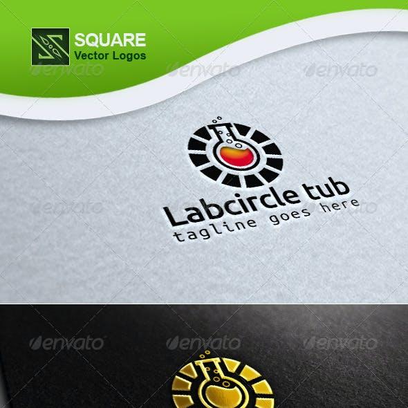 Circle, Test tube Vector Logo Template