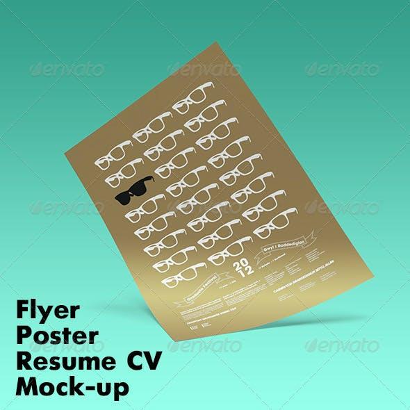 Flyer Poster Resume CV Mock-up