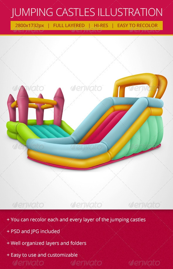 Jumping Castles - Objects Illustrations