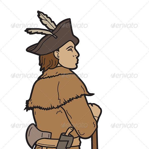 Soldier Dressed Partial Indian Attire