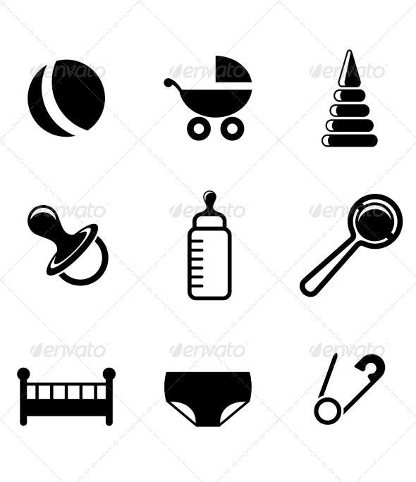Baby and Childish Icons - Miscellaneous Conceptual