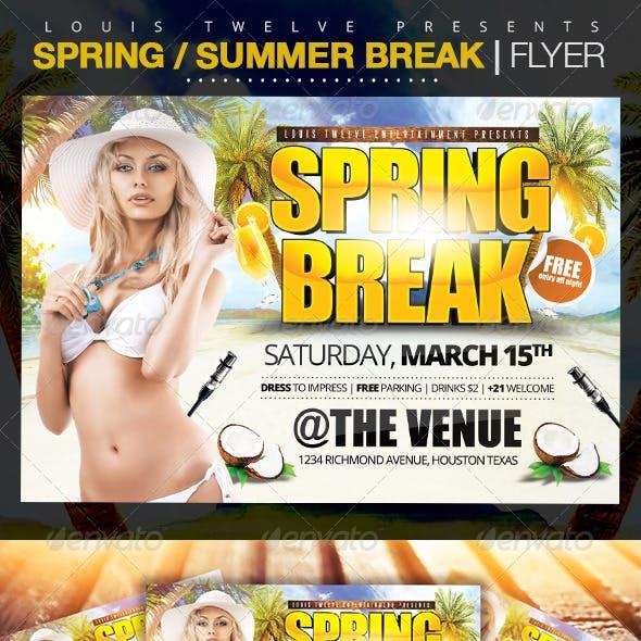Spring Break / Summer Party | Horizontal Flyer