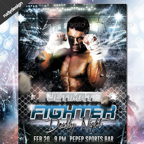 Ultimate Fighting Flyer Design