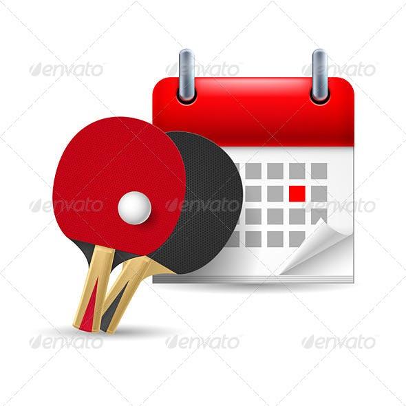 Ping Pong Rackets and Calendar