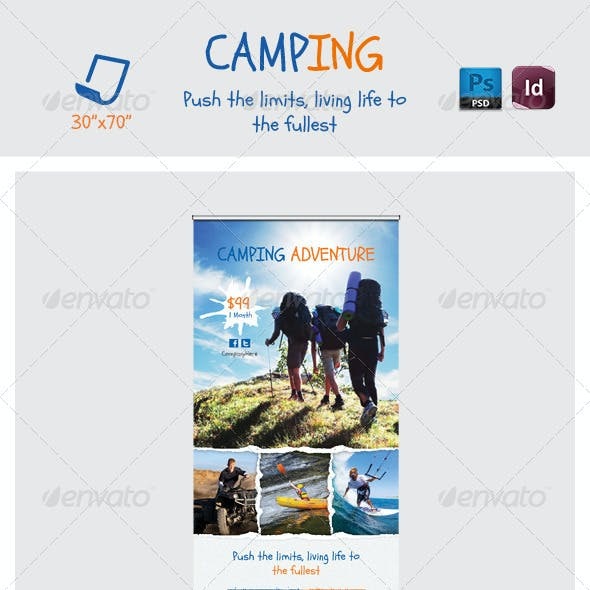 Camping Adventure Roll-Up Templates