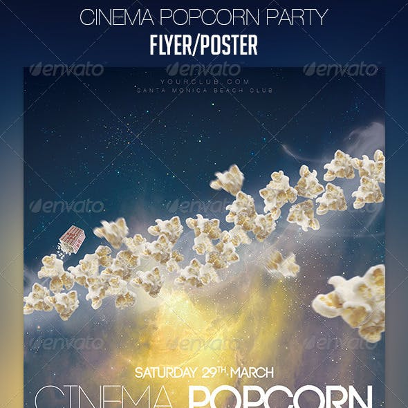 Cinema Popcorn Party Flyer/Poster