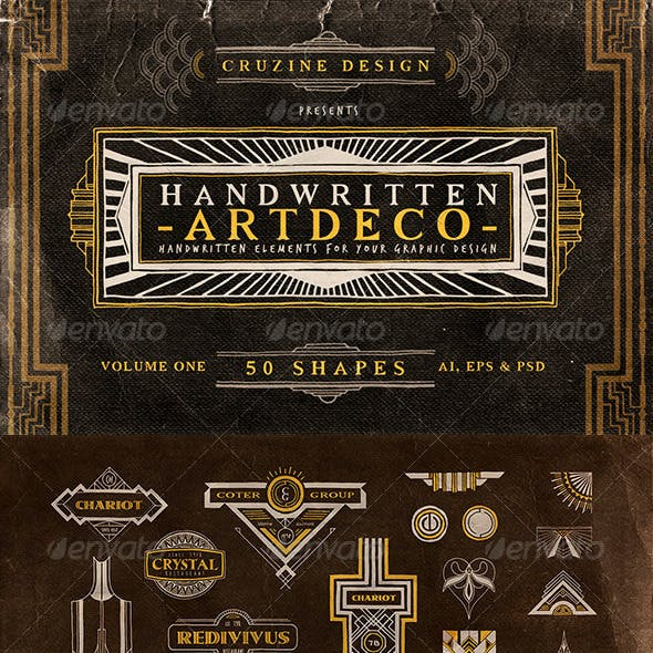 Handwritten Artdeco Elements v.1